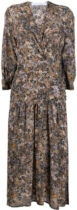 IRO Floral Print Pleated Dress
