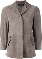 Salvatore Ferragamo classic collared jacket - women - Calf Suede - 38