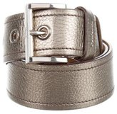 Prada Metallic Leather Waist Belt