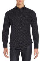 Ralph Lauren Regular-Fit Dot-Print Cotton Sportshirt
