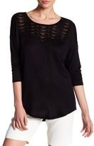 Bobeau Lace Yoke Shirt
