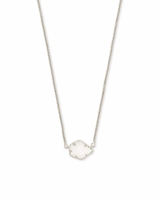 Kendra Scott Tess Small Pendant Necklace for Women Dainty Fashion Jewelry 14k Gold-Plated