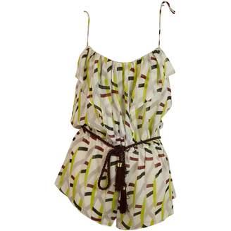 Diane von Furstenberg Metallic Cotton Shorts
