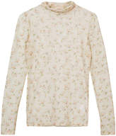 Brock Collection floral tulle turtleneck top