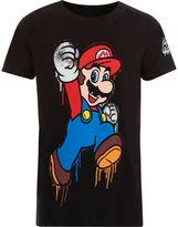 River Island Boys Black Super Mario print T-shirt