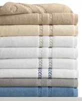 "Lenox Bath Towels, Pearl Essence Cotton 13"" Square Washcloth"