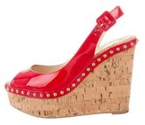 Christian Louboutin Patent Leather Monico 100 Wedges