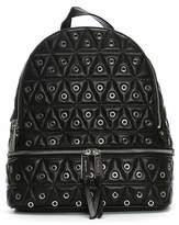 Michael Kors Quilt Leather Zip Backpack