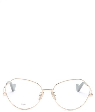 Loewe Round Metal Glasses - Rose Gold