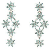 Oscar de la Renta Crystal Flower Cluster Drop Earrings