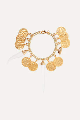 Kenneth Jay Lane Gold-plated And Resin Bracelet