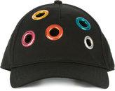Diesel rainbow rivet baseball cap - unisex - Cotton - XS