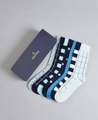 Brooks Brothers The Blues - Seven-Pair Socks Gift Set