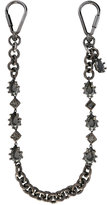 DSQUARED2 crystal key chain - women - Crystal/Tin/Ruthenium - One Size