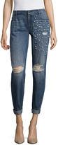 PROJECT RUNWAY Project Runway Embellished Pearl Boyfriend Jeans