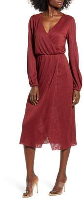 ALL IN FAVOR Long Sleeve Midi Dress