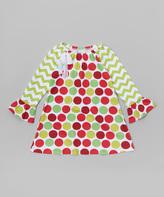 Flap Happy Wonder Rings Polka Dot Lily Dress - Infant, Toddler & Girls