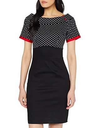 Joe Browns Womens Vintage Polka Dot Pencil Skirt Dress Black