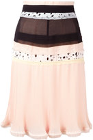 Carven patchwork pleated skirt - women - Polyester - 36