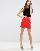 Asos Corded Lace Mini Skirt