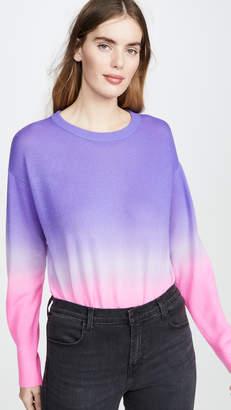 Alice + Olivia Gleeson Dip Dye Long Sleeve Cashmere Pullover