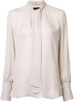 Nili Lotan tie front blouse - women - Silk - XS