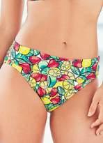 Kaleidoscope Print Bikini Roll Top Briefs
