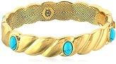 House Of Harlow Ribbed Valda Bangle Bracelet