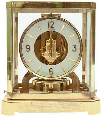 One Kings Lane Vintage Case Glass/Brass Jaeger Desk Clock - La Maison Supreme