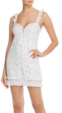 For Love & Lemons Azalea Cotton Eyelet Mini Dress