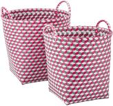 Very Set of 2 Round Baskets - Pink