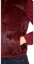 Diane von Furstenberg Carrington Fur Front Coat