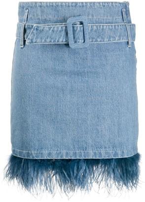 Simonetta Ravizza Embroidered Denim Skirt
