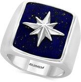 Effy Men's Lapis Lazuli (19-1/2 x 15-1/2mm) Starburst Ring in Sterling Silver
