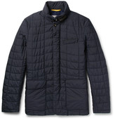 Canali - Leather-trimmed Quilted Shell Jacket