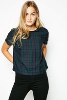 Jack Wills Becontree Checked Woven Tee