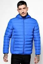 boohoo Puffer Jacket With Hood