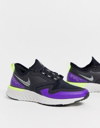 Nike Running odyssey react 2 shield sneakers in purple