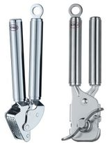 Rosle Garlic Press and Can Opener Set
