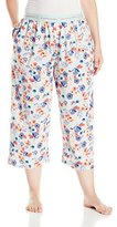 Hue Women's Plus Size Flower Capri with Pockets