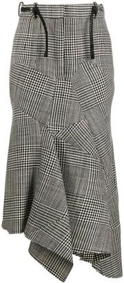 Tom Ford Patchwork Asymmetrical Midi Skirt