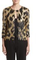 Naeem Khan Women's Cheetah Print Sequin Jacket
