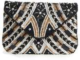 Sole Society Beaded Clutch - Black