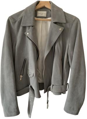 Sandro Grey Leather Jacket for Women