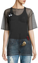 Necessary Objects Patch-Accented Mesh Tee
