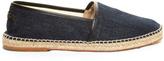 Dolce & Gabbana Leather-trimmed denim espadrilles