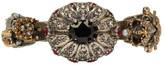 Alexander McQueen Gunmetal & Gold Double Skeleton Ring