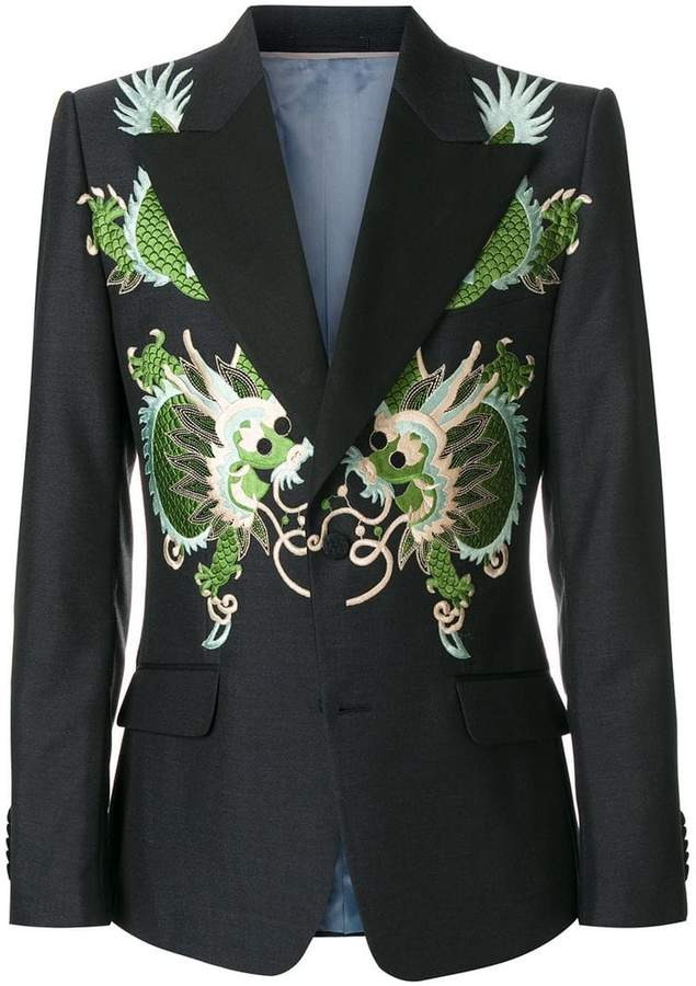 Gucci Heritage jacket with dragons