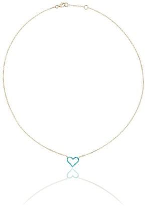 Rosa de la Cruz Chain Heart Pendant Necklace