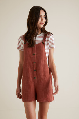 Seed Heritage Cheesecloth Romper